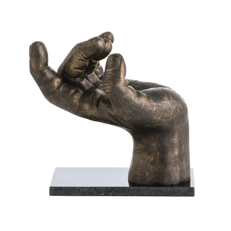 Arteriors 3016 Garrick 12 Inch Tall Iron Sculpture Bronze Home Decor