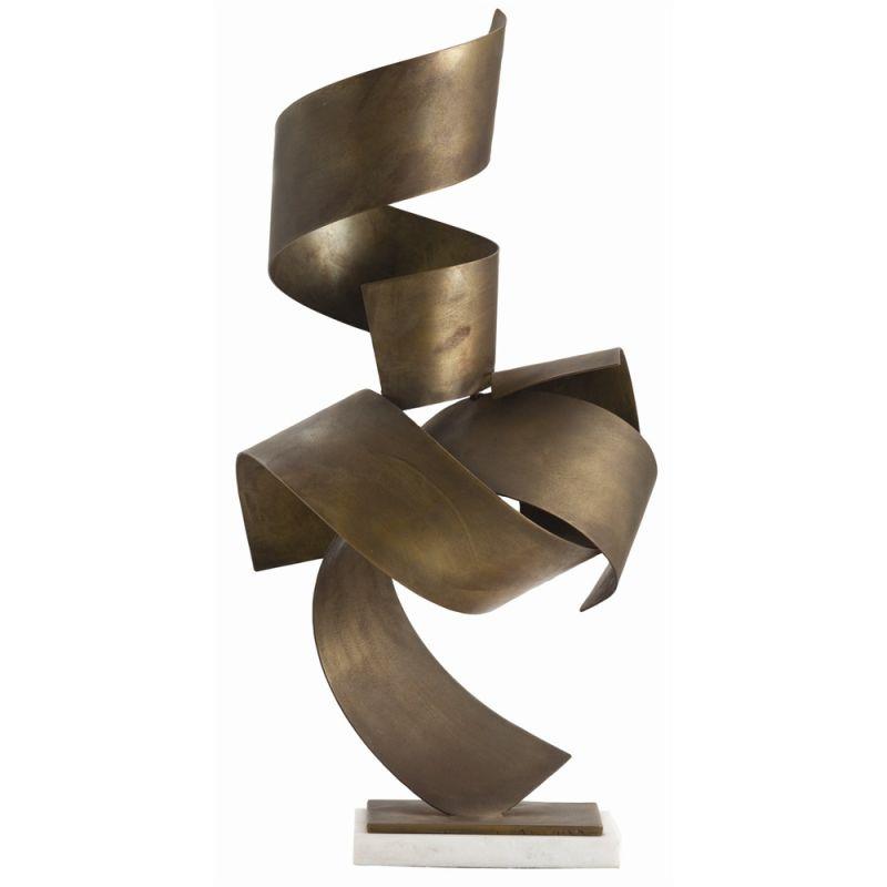 Arteriors 3125 Henley 26 Inch Tall Sculpture Vintage Brass Home Decor