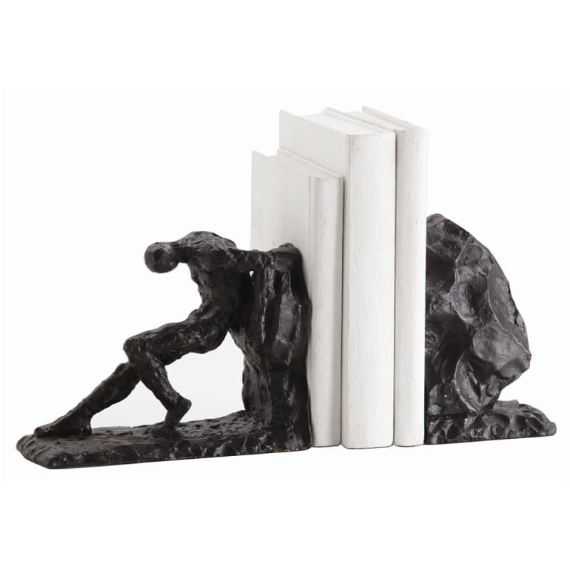 Arteriors 3127 Jacque 2 Piece Iron Bookends Set Bronze Home Decor