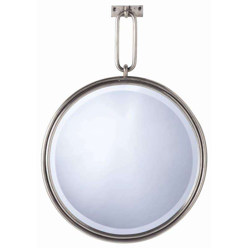 Arteriors 3130 Lander 23.5 Inch Circular Beveled Iron Framed Mirror
