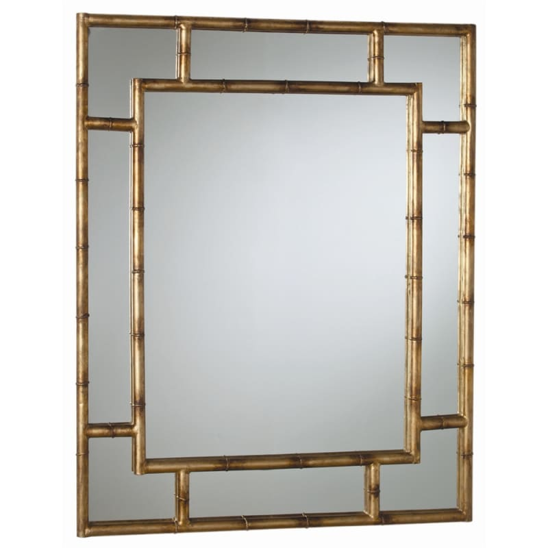 Arteriors 3138 Porter 43 Inch Oval Iron Framed Mirror Antiqued Gold