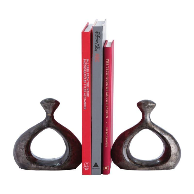 Arteriors 3139 Pilcher 2 Piece Bookends Set Natural Iron Home Decor