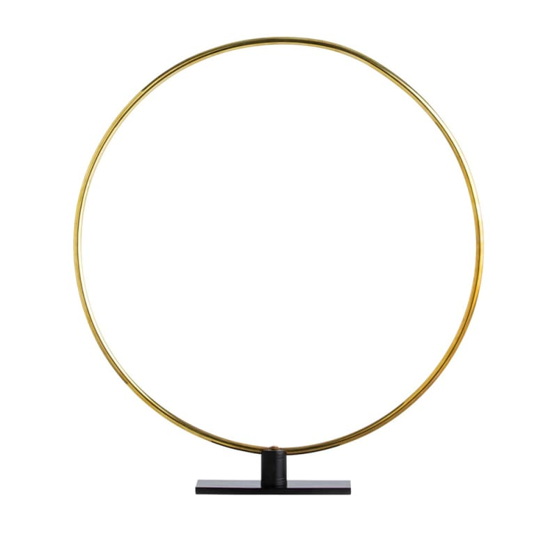 Arteriors 4142 Gregory 27 Inch Tall Ring Sculpture Polished Brass Home
