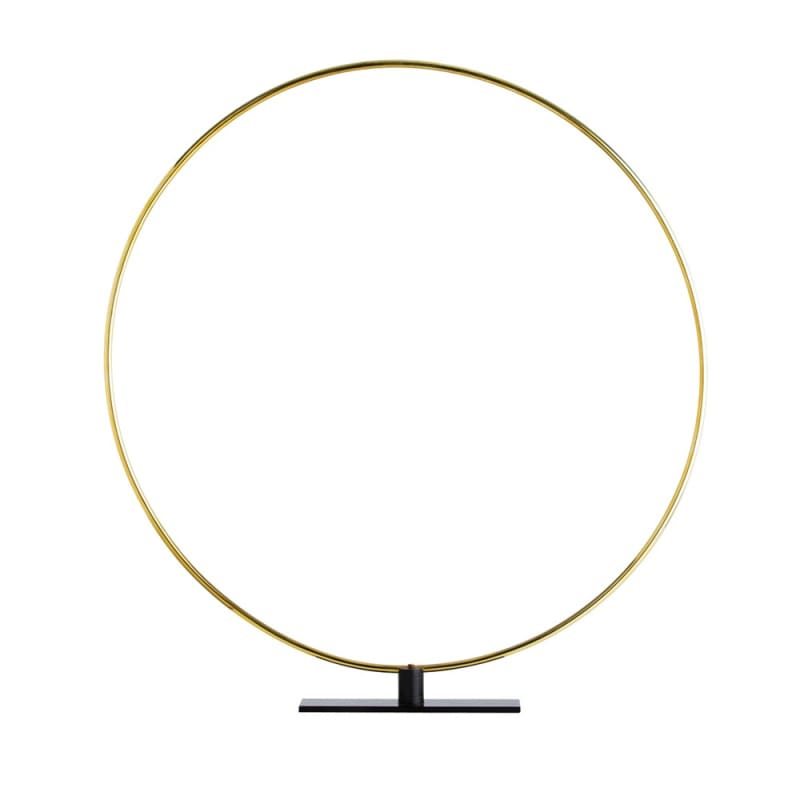 Arteriors 4143 Gregory 38.5 Inch Tall Ring Sculpture Polished Brass