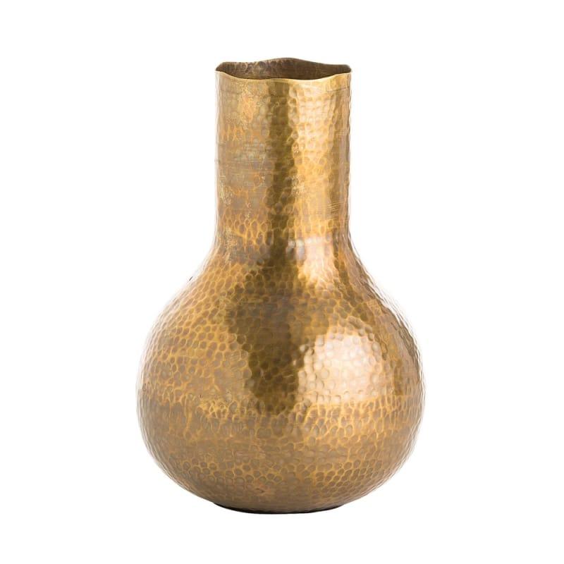 Arteriors 4144 Gigi 8.5 Inch Tall Vase Antique Brass Home Decor Vases