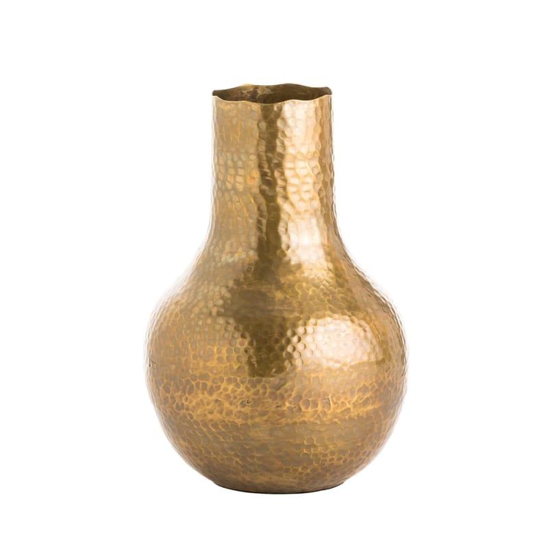 Arteriors 4145 Gigi 10.5 Inch Tall Vase Antique Brass Home Decor Vases