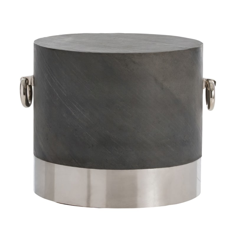 Arteriors 4228 Neil 26.5 Inch Diameter Stone End Table Polished Nickel