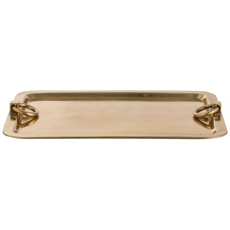 Arteriors 4233 Bordeaux 23.5 Inch Wide Steel Tray Antique Brass Home