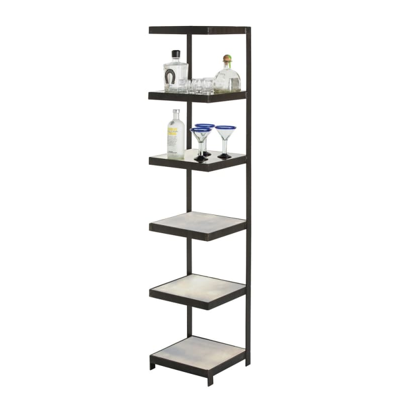 Arteriors 4333 Hattie 70 Inch Tall Iron Etagere Black Furniture