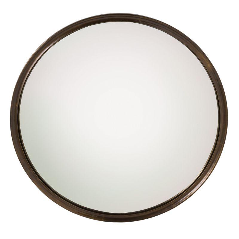 Arteriors 4352 Gervais 43 Inch Circular Framed Mirror Antique Brass