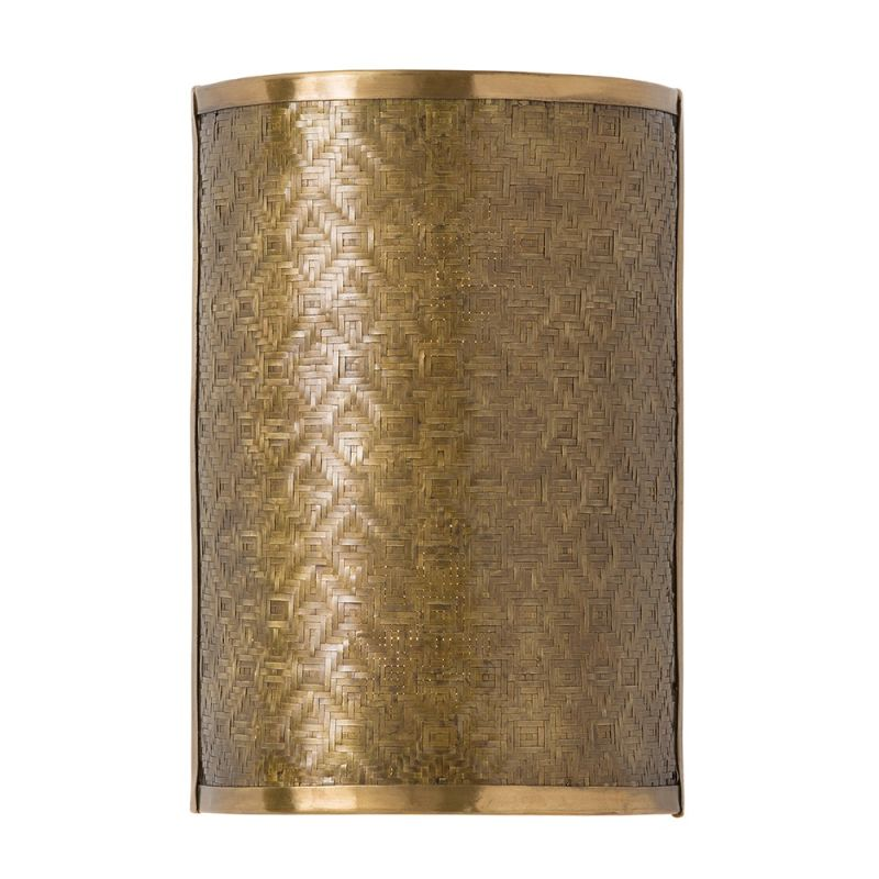 """Arteriors 44011 Fable 12"""" Tall 2 Light Wall Sconce Vintage Brass"""