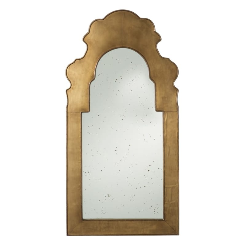 Arteriors 4821 Nikos 50 Inch x 25 Inch Arched Framed Mirror Antique