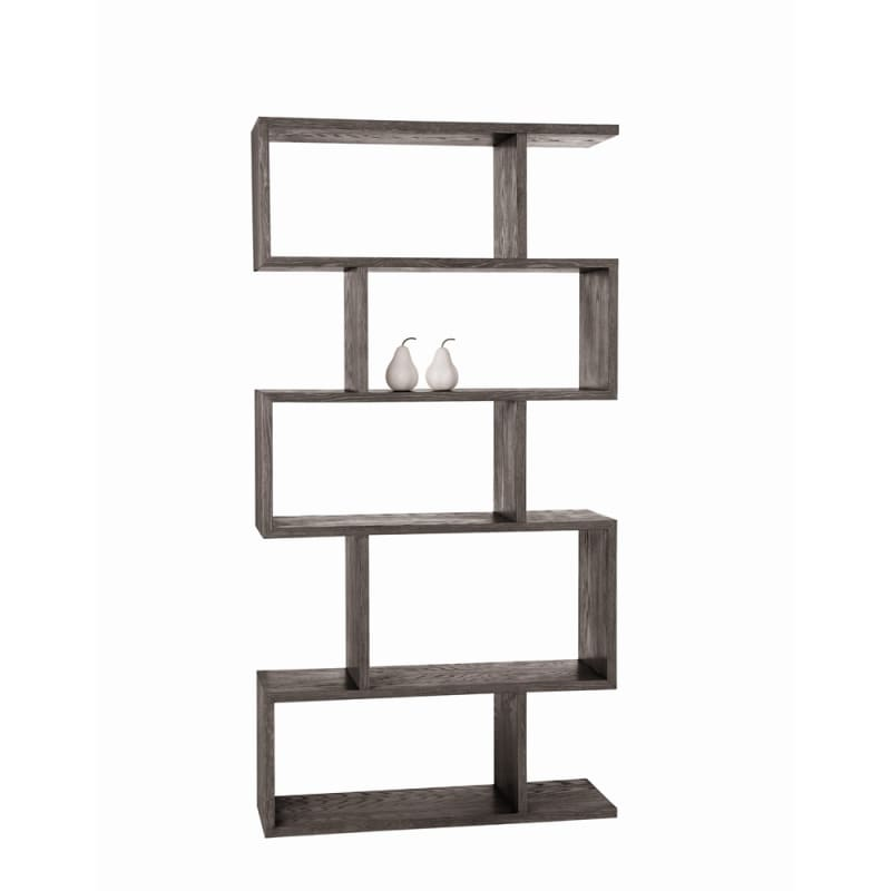 Arteriors 5198 Carmine 70 Inch Tall Wood Bookshelf Gray Limed Oak
