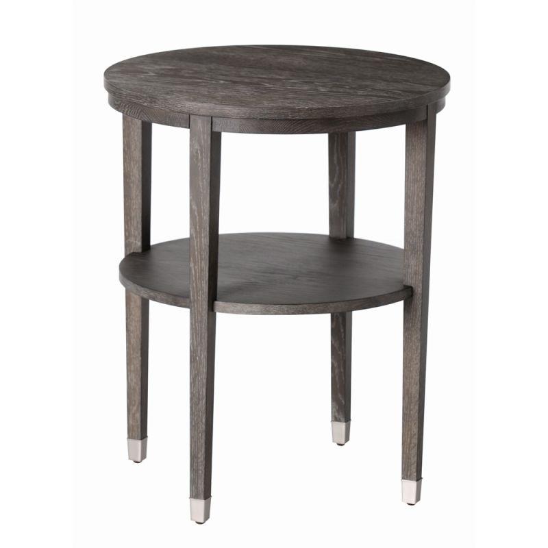 Arteriors 5322 Gentry 22 Inch Diameter Wood End Table Gray Limed Oak