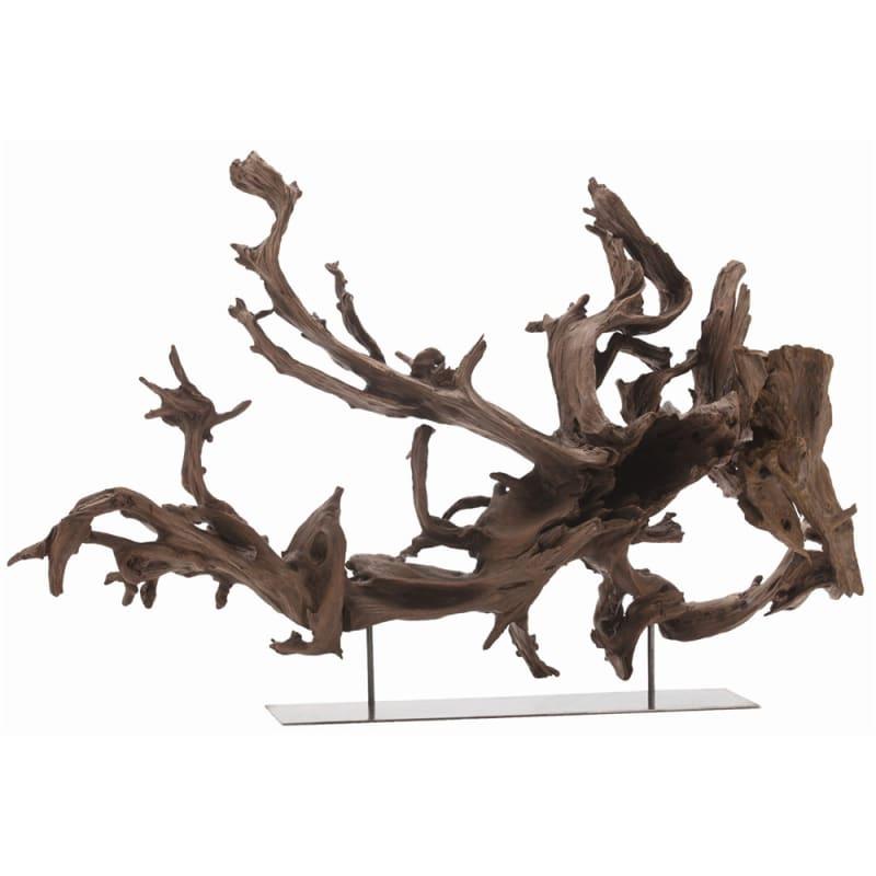 Arteriors 5414 Kazu 42.5 Inch Tall Wood Sculpture Natural Iron Home