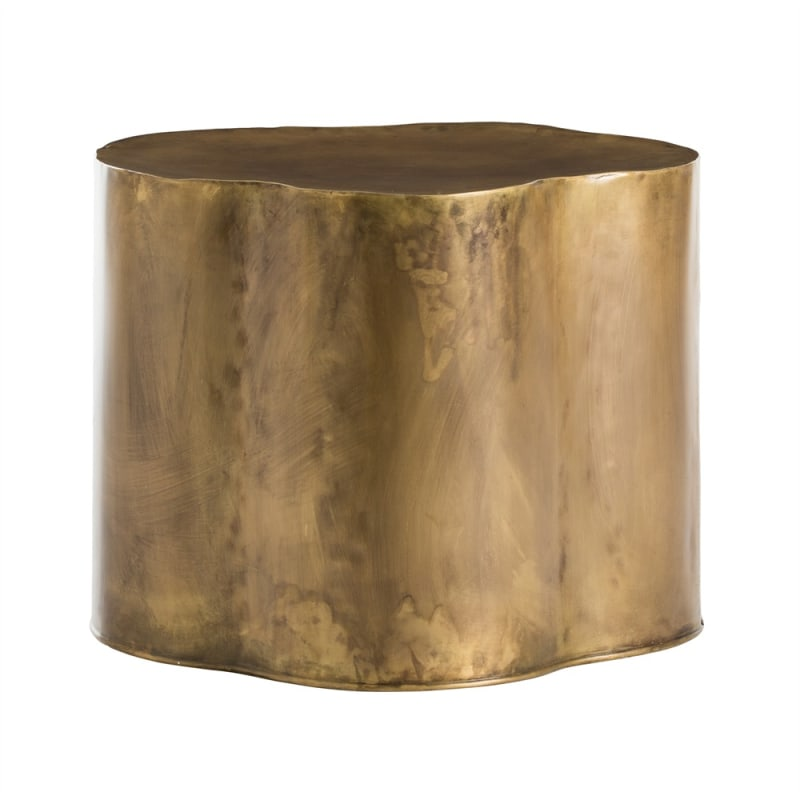 Arteriors 6034 Lowry 24 Inch Wide Iron End Table Antique Brass