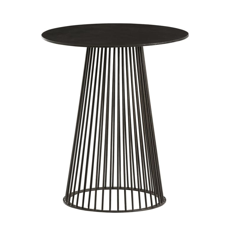 Arteriors 6047 Lou 18 Inch Diameter Iron Accent Table Black Furniture
