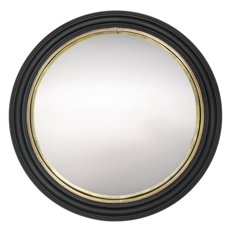 Arteriors 6074 Ramona 48 Inch Circular Wood Framed Mirror Black Home