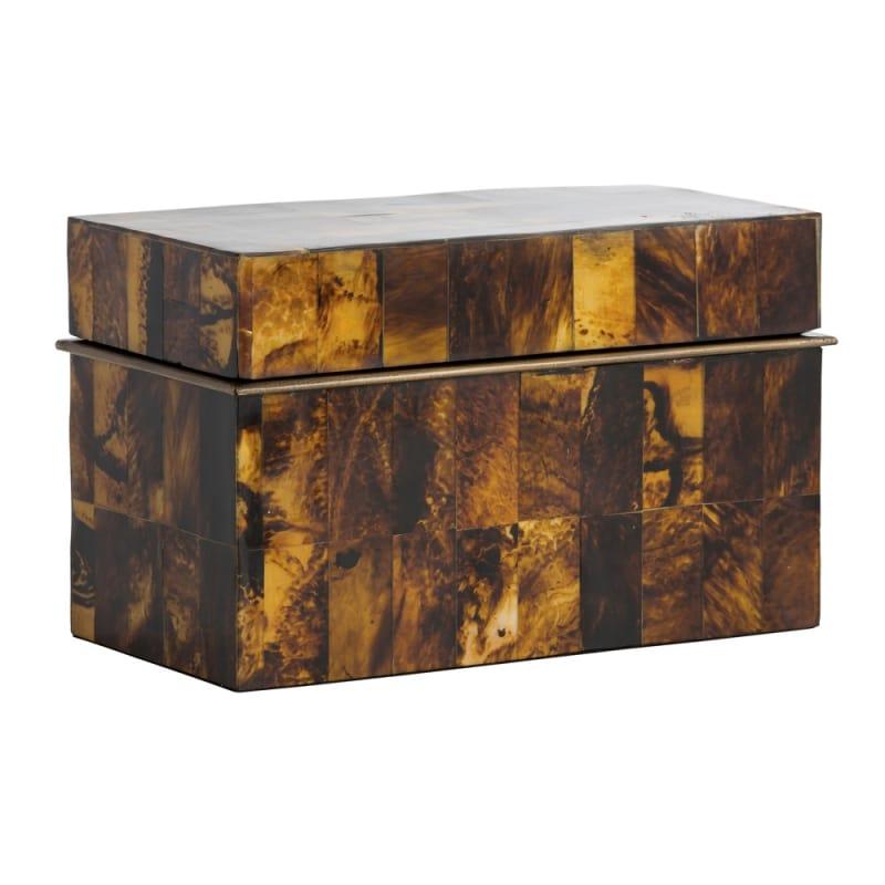 Arteriors 6076 Patrick 13.5 Inch Wide Box Antique Brass Home Decor