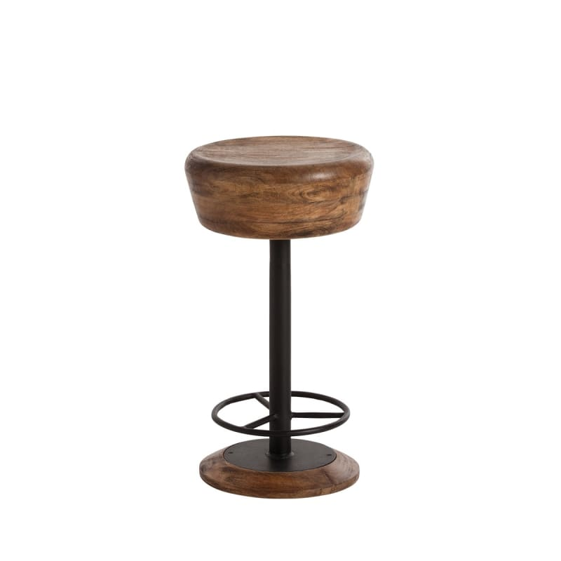 """Arteriors 6120 Caymus 24"""" Tall Solid Wood Bar Stool Natural Furniture"""
