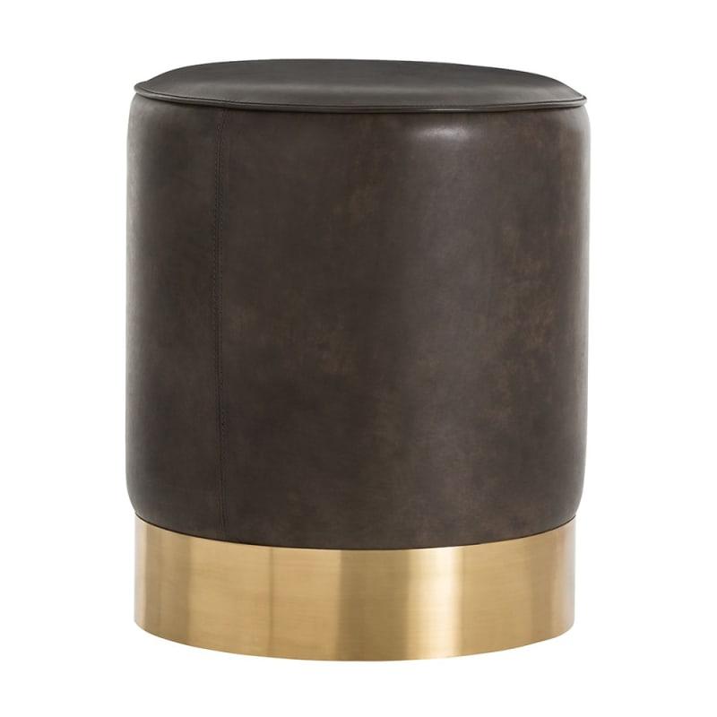 Arteriors 6142.6143 Pratt 16.5 Inch Diameter Brass Framed Leather