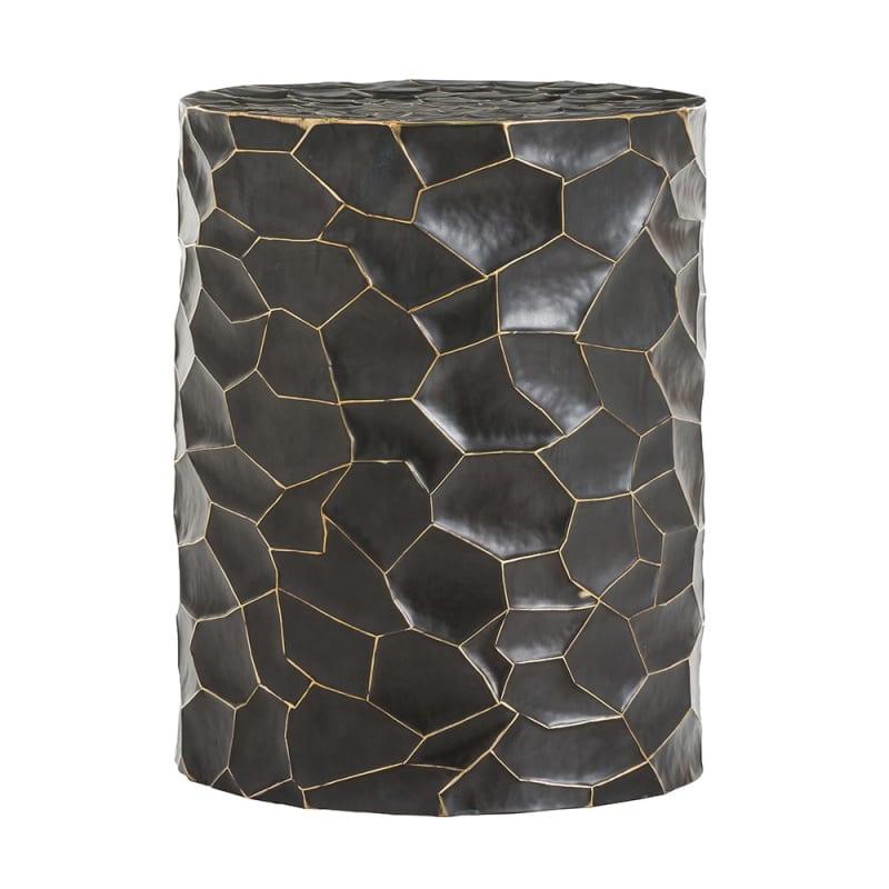 Arteriors 6169 Rudd 18 Inch Tall Brass Framed Stool Bronze Furniture