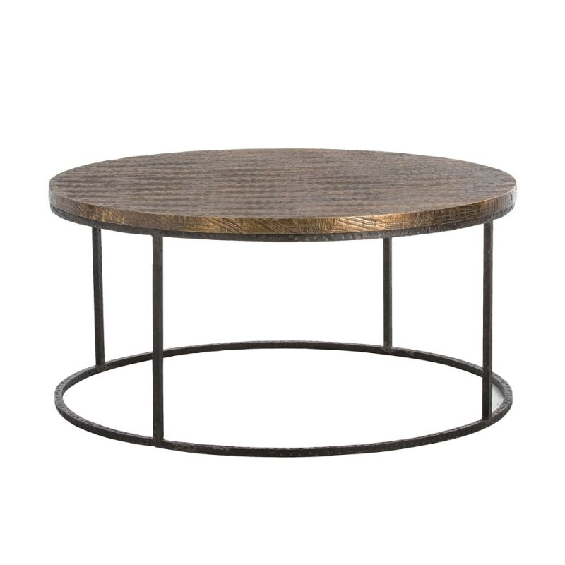Arteriors 6175 Nixon 38 Inch Diameter Coffee Table Natural Iron