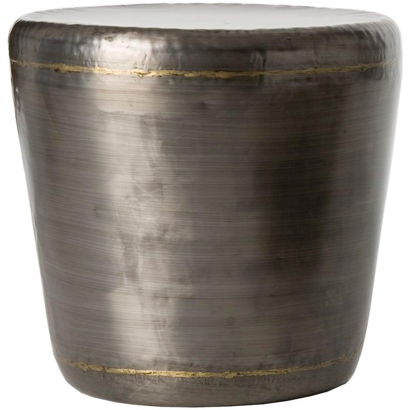 Arteriors 6232 Malcom 20.5 Inch Diameter Metal Top Iron End Table Dark