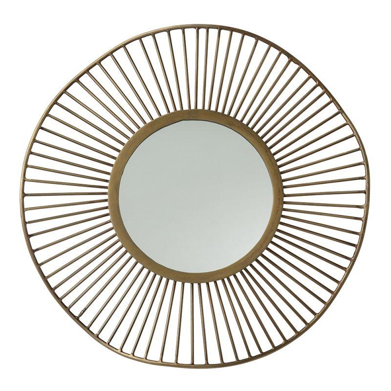 Arteriors 6236 Olympia 15 Inch Circular Iron Framed Mirror Antique