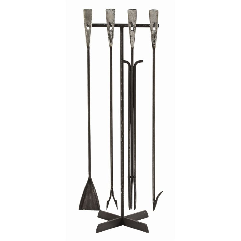 Arteriors 6331 Henry 39 Inch Tall Iron Fireplace Tool Set Polished