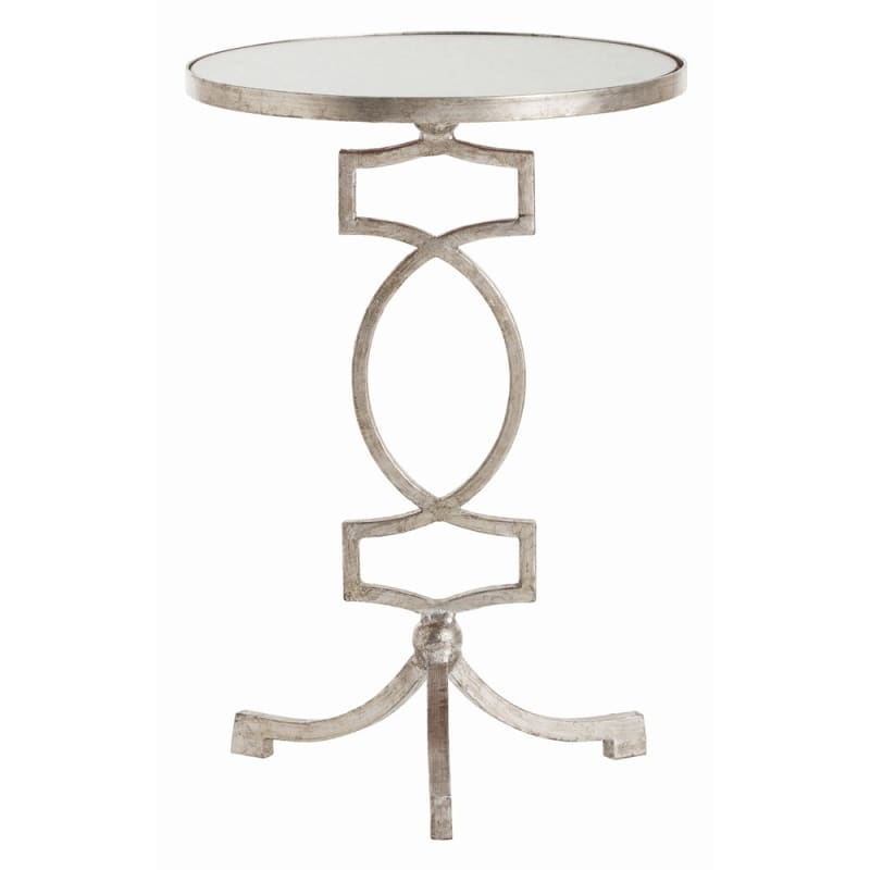 Arteriors 6343 Cooper 14.5 Inch Diameter Mirror Top Iron Accent Table