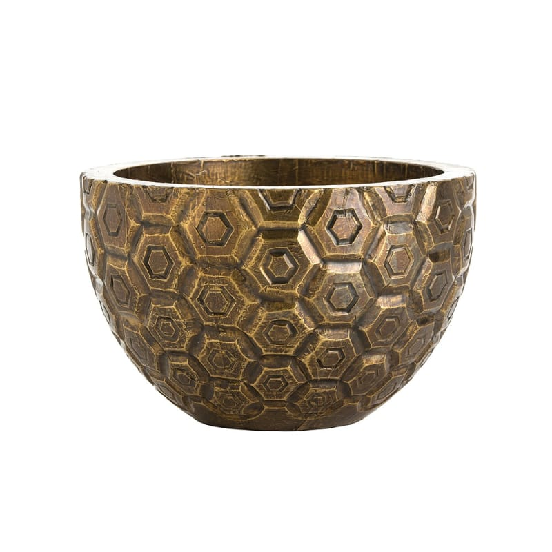 Arteriors 6362 Kimo 8 Inch Tall Decorative Bowl Antique Brass Home
