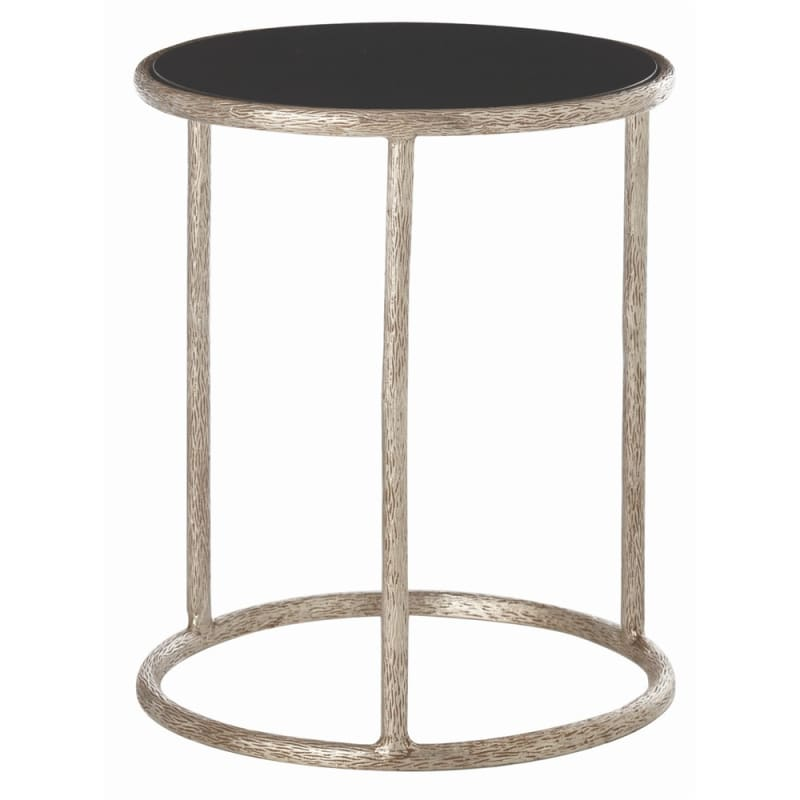 Arteriors 6527 Keifer 22 Inch Diameter Marble Top Iron End Table