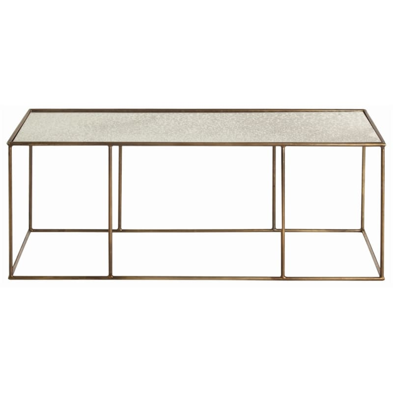 Arteriors 6531 Othello 48 Inch Long Mirror Top Iron Coffee Table