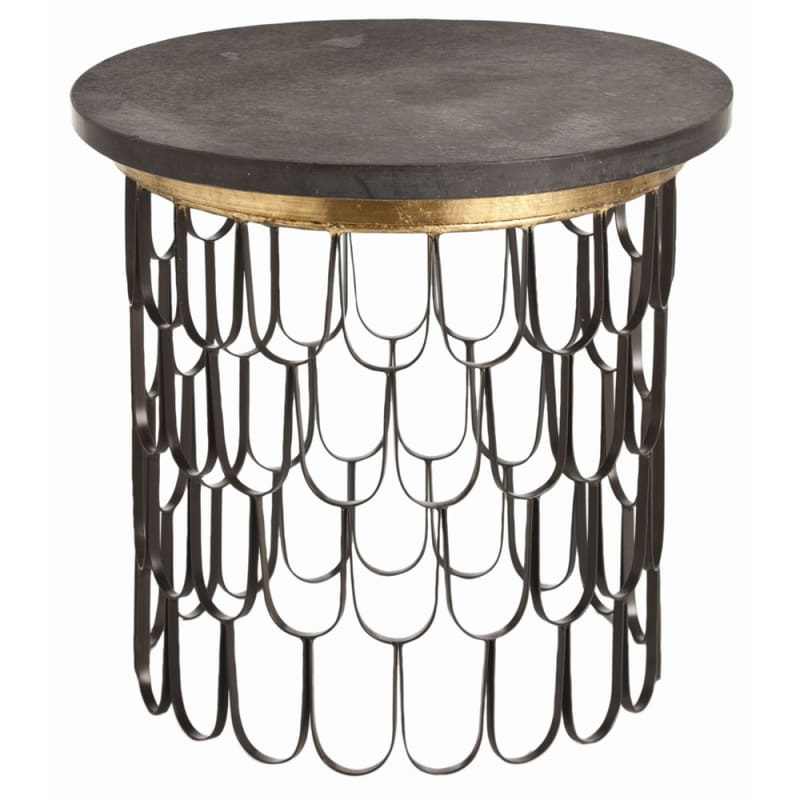 Arteriors 6557 Orleans 23.5 Inch Diameter Iron End Table Black