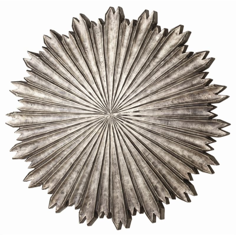 Arteriors 6580 Octavia 30 Inch Wide Iron Wall Plaque Antique Silver