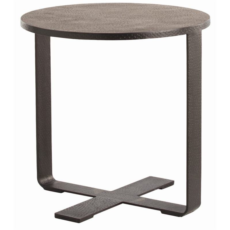 Arteriors 6632 Ramiro 24 Inch Diameter Iron End Table Black Waxed