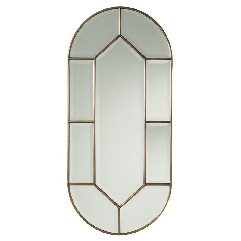 Arteriors 6773 Olsen 24 Inch Oval Beveled Glass Framed Mirror Plain