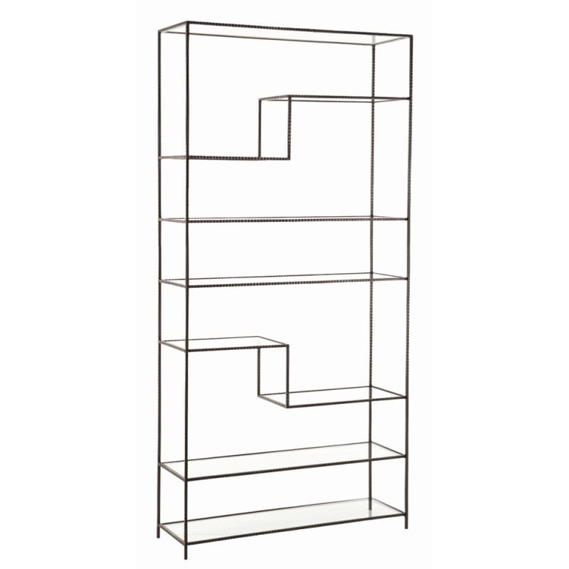Arteriors 6818.6833 Worchester 83 Inch Tall Bookshelf Natural Iron