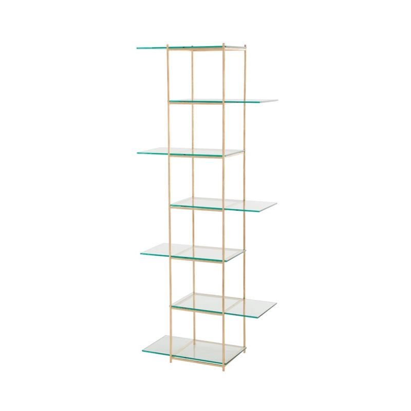 "Arteriors 6830 Brooks 80"" Tall Iron and Glass Configurable Shelving"