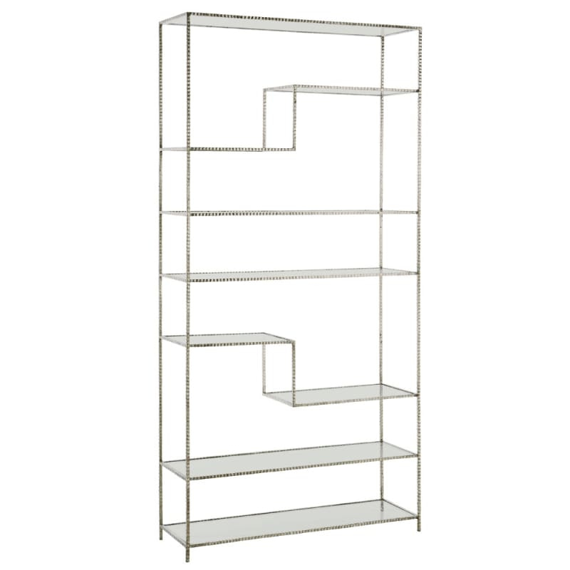 Arteriors 6818.6833 Worchester 83 Inch Tall Bookshelf Silver Leaf