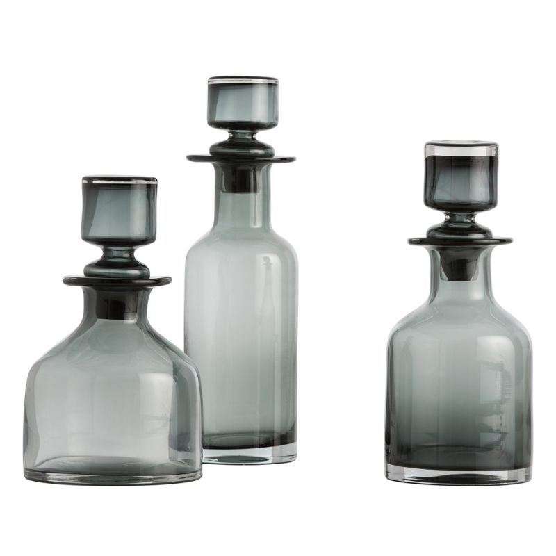Arteriors 7509 O´Connor 3 Piece Glass Decanter Set Smoke Home Decor