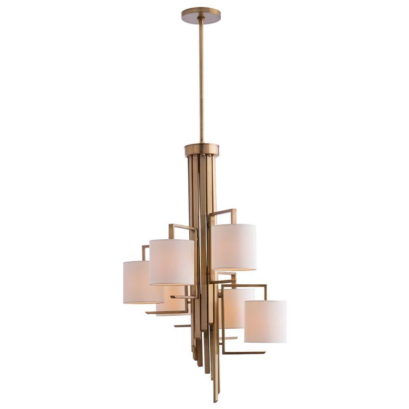 "Arteriors 89038.89048 Elijah 24"" Wide 6 Light Chandelier Antique Brass Sale $2400.00 ITEM#: 2990705 MODEL# :89038 :"