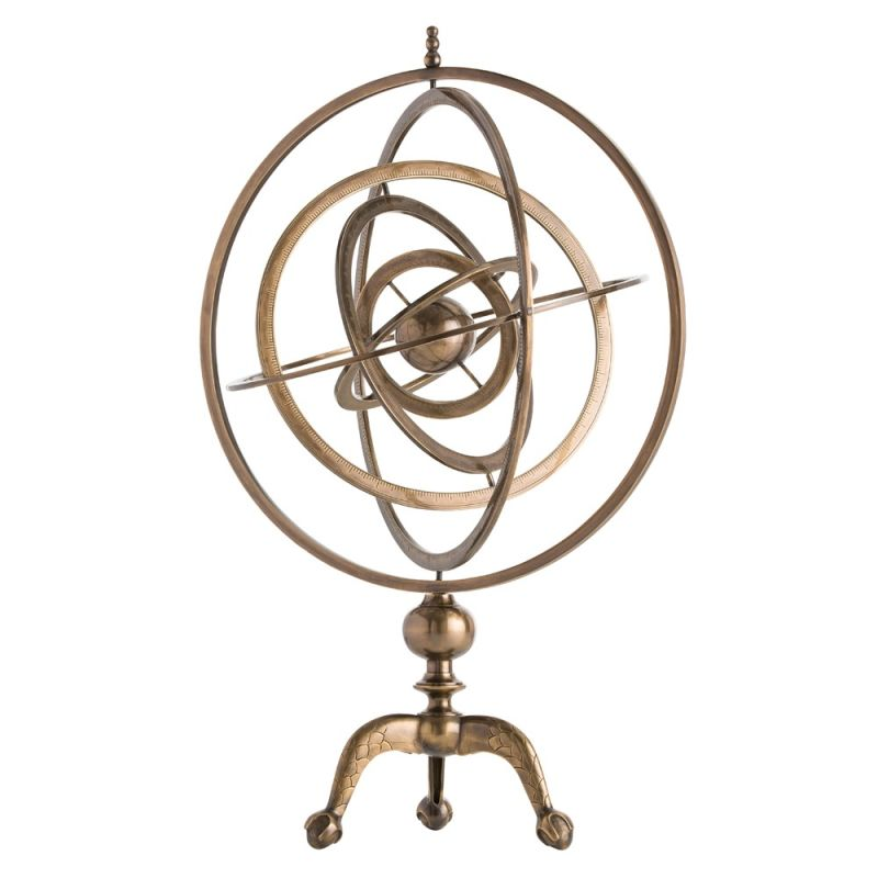 Arteriors DD2063 Copernicus 33 Inch Tall Armillary Antique Brass Home