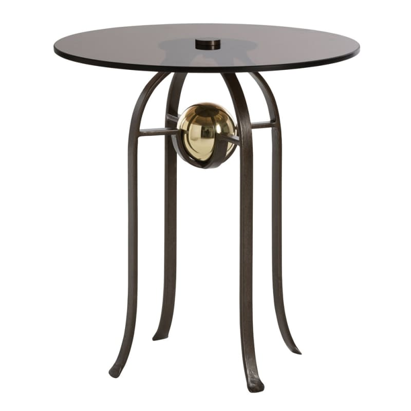 Arteriors DD2074 Orb 24 Inch Diameter Glass Top Iron Bar Table