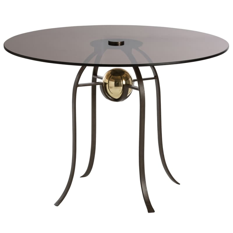 Arteriors DD2075 Orb 42 Inch Diameter Glass Top Iron Bistro Table