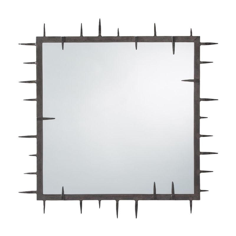 Arteriors DD2603 Spiked 34.5 Inch x 34.5 Inch Square Framed Mirror Sale $415.00 ITEM#: 2990932 MODEL# :DD2603 UPC#: 796505259363 :