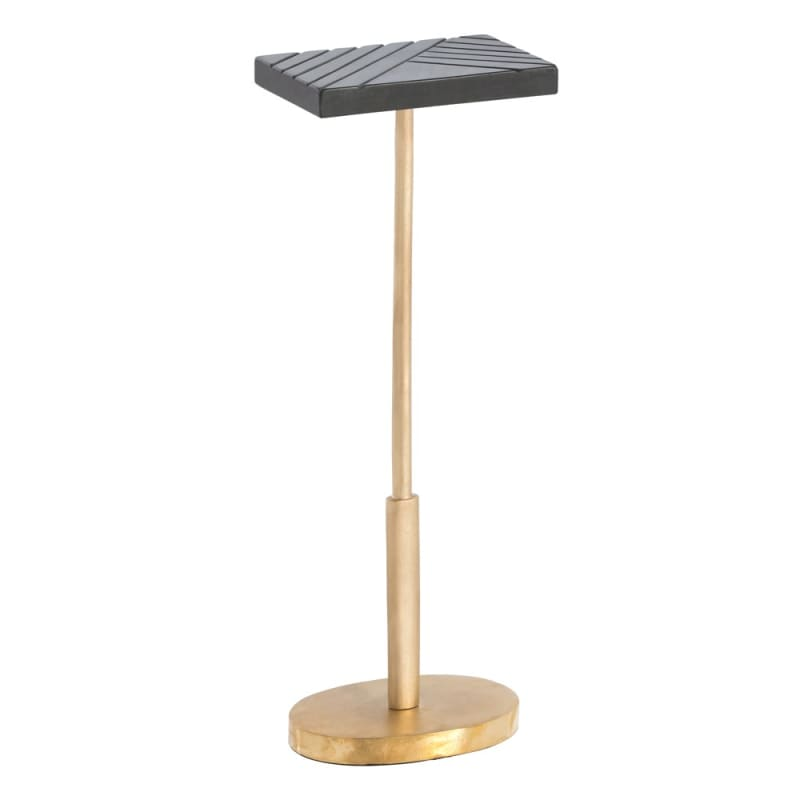 Arteriors DJ2011 Simone 9 Inch Long Metal Top Accent Table Matte Brass