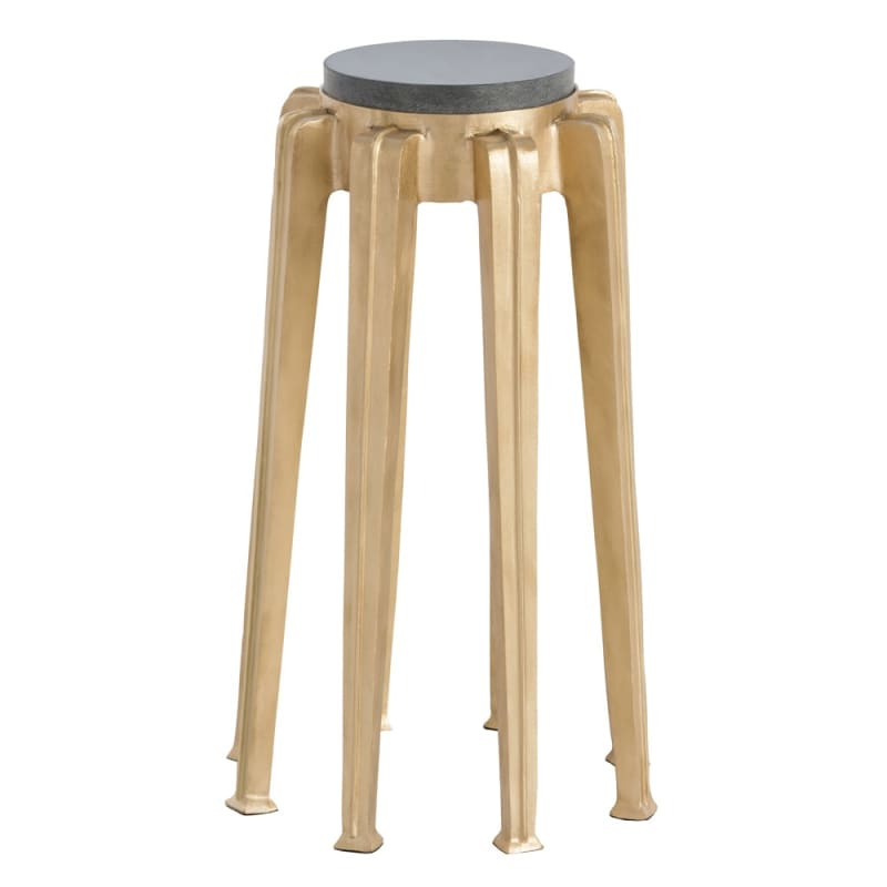 Arteriors DJ2013 Octavia 9.5 Inch Diameter Marble Top Accent Table