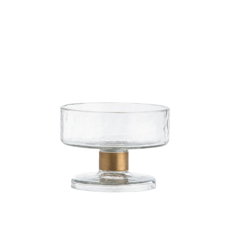 "Arteriors DJ2024 Didi 5"" Wide Glass Decorative Serving Bowl Clear Home"